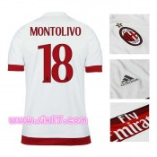 Achat football Maillot exterieur milan AC 2016 MONTOLIVO blanc col V Tenue De Football