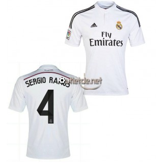 Boutique Maillot Real madrid 2014 2015 Sergio Ramos Domicile blanc