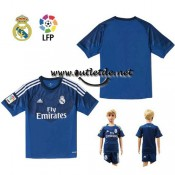 Ensemble Real madrid enfant Gardien de But Maillot bleu 2015 domicile