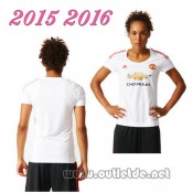 Grossiste Maillot exterieur femme Manchester United 2015 2016 col rond