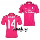Maillot De Foot Real madrid Alonso Extérieur Rose