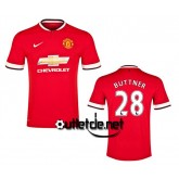 Maillot De Foot de Manchester United 2014 2015 Buttner Domicile Rouge