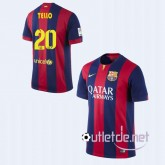 Maillot FC Barcelone football 14/15 Tello Domicile Rouge/bleu
