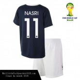 Maillot Foot France enfant Nasri 11 Coupe Du Monde 2014