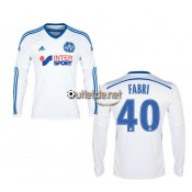 Maillot achat om 2014 2015 Fabri Domicile blanc manches longues