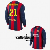 Maillot barca 2015 Adriano Domicile Rouge/bleu manches longues