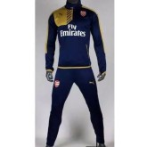 Survetement De Foot 2015 2016 Arsenal golden Blue