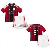 Ac milan t shirt 2015 juNior Zaccardo Domicile Rouge/Nior