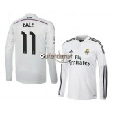 Acheter Maillot Real madrid 2014 Bale Domicile blanc manches longues