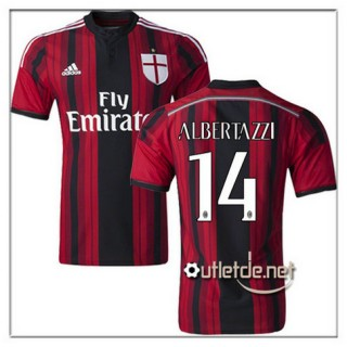 Albertazzi The Official AC Milan Maillots 2014/15 Domicile