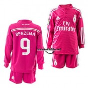 Benzema Maillot de Real madrid enfant manche longue 2015 rose