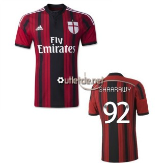 Boutique Maillot milan AC france 2015 Shaarawy Domicile Rouge/Nior