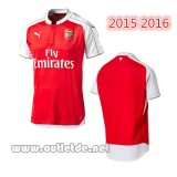 Ensemble Maillot Arsenal 2015 2016 Domicile Blanc et Rouge Arsenal fc