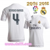 Flocage Maillot sergio RAMOS Real madrid 2016 Domicile blanc col rond football