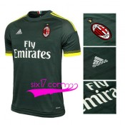 Grossiste Maillot Milan AC Troisieme 2015 2016 col rond vert