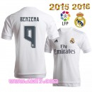 Grossiste foot Maillot BENZEMA Real madrid 2016 Domicile manche courte col rond