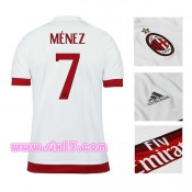 Grossiste foot Maillot exterieur milan AC 2016 MENEZ col V blanc ensemble football