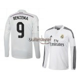 Le Maillot du Real madrid 2014 Benzema Domicile blanc manches longues
