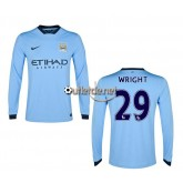 Maillot 2014 manchester city Wright Domicile bleu manches longues