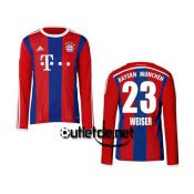 Maillot Bayern 2014 Weiser Domicile Rouge manches longues