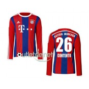 Maillot Bayern munich Contento Domicile Rouge manches longues