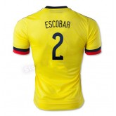 Maillot De Foot Colombie Domicile 2015/2016 (2 Escobar) Joune