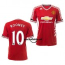 Maillot De Foot Manchester United Rooney 2015/16 Domicile