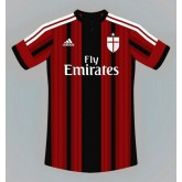 Maillot Foot AC Milan 2014 2015 domici