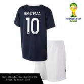 Maillot Foot BENZEMA france enfant coupe du monde 2014 Domici