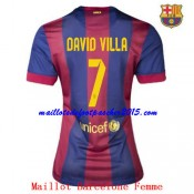 Maillot Foot Barcelone David Villa Femme 2014 2015 Domicien