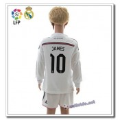 Maillot James Real Madrid Enfant Manches Longues 2015 Domicile blanc promo