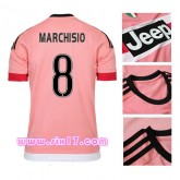 Maillot MARCHISIO juventus exterieur 2015 2016 col rond rose Thailande