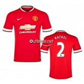 Maillot Manchester United 2014 2015 Rafael Domicile Rouge