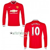Maillot Manchester United 2015 Rooney Domicile Rouge manches longues