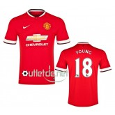 Maillot Manchester United foot 14/15 Young Domicile Rouge