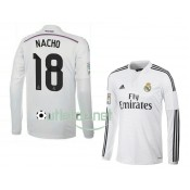 Maillot Real madrid Nacho Domicile blanc manches longues