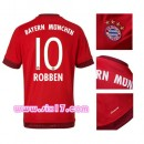 Maillot Robben Bayern Munich 2015 2016 domicile Rouge col rond