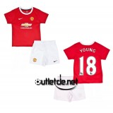 Maillot blanc Manchester United 14/15 enfant Young Domicile Rouge