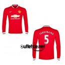 Maillot blanc Manchester United Ferdinand Domicile Rouge manches longues