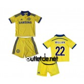 Maillot de Chelsea 2014 2015 juNior Willian Extérieur jaune