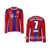 Maillot du Bayern 2014 2015 Ribery Domicile Rouge manches longues