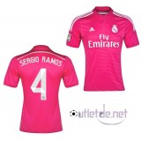 Maillot du Real madrid 2014 2015 Sergio Ramos Extérieur Rose