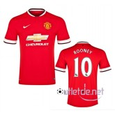 Maillot foot Manchester United 2014 2015 Rooney Domicile Rouge