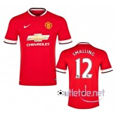 Maillot foot Manchester United 2014 Smalling Domicile Rouge
