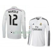 Maillot mayo Real madrid 2014 Marcelo Domicile blanc manches longues
