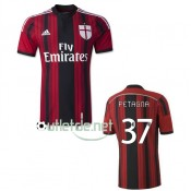 Maillot milan AC boutique france 2015 Petagna Domicile Rouge/Nior