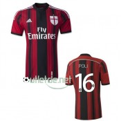 Maillot milan AC foot 14/15 Poli Domicile Rouge/Nior