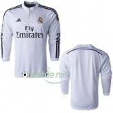 Maillot tenu Real madrid 2014 Domicile blanc manches longues