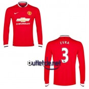 Manchester United 2014 Maillot Evra Domicile Rouge manches longues