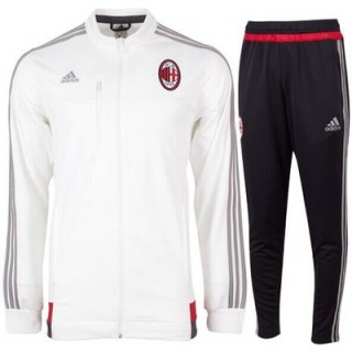 Nouveau survetement De Foot AC Milan 2015 2016 Blanc zipper
